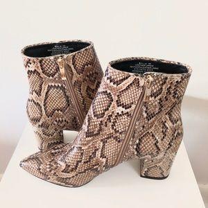 Steven Steve Madden Natural Snakeskin Bollie Boots